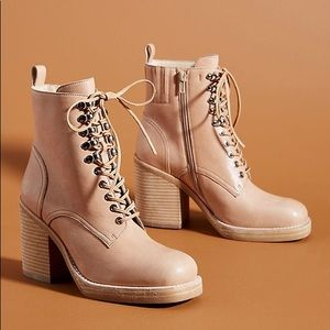 Anthro X Jeffrey Campbell Dotty Lace Up Boots Sz 7